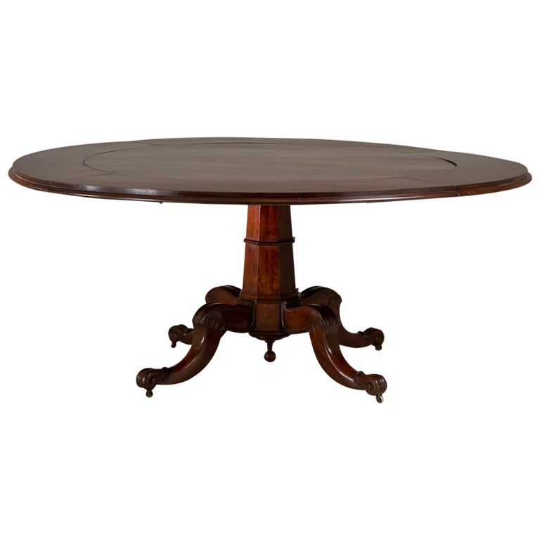 A superb irish mahogany dining table circa 1830 at 1stdibs for Dining room tables northern ireland