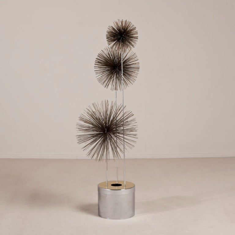 A Curtis Jere Metal Pom Pom Floor Lamp USA 1970s 2