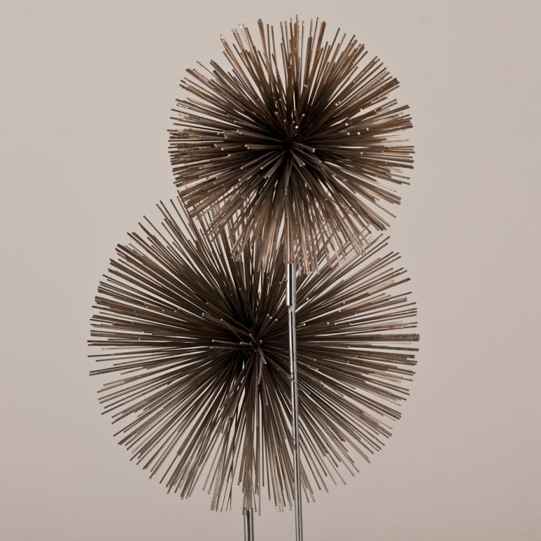 A Curtis Jere Metal Pom Pom Floor Lamp USA 1970s 3