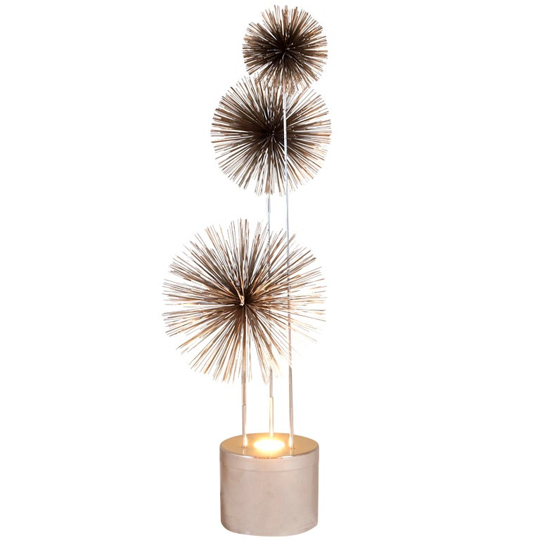 A Curtis Jere Metal Pom Pom Floor Lamp USA 1970s 1