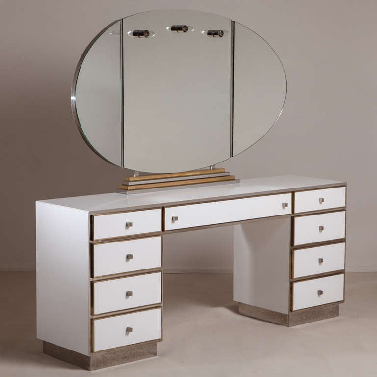 A Large Dressing Table With Illuminated Vanity Mirror 1970s At 1stdibs