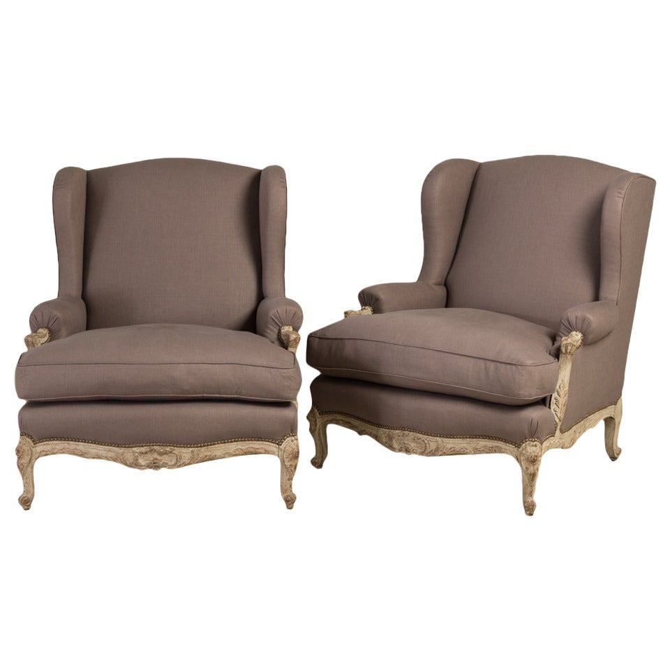 Late 19th century oversized pair of french armchairs at for Oversized armchair