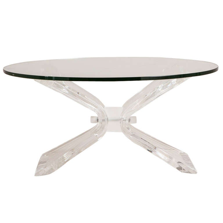 Butterfly Shaped Lucite Coffee Table, USA, 1970s