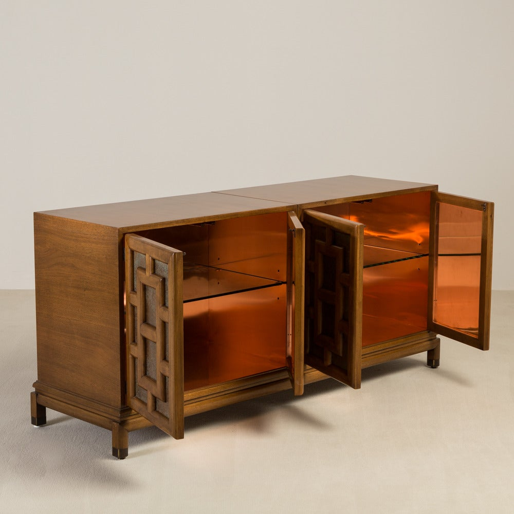 Asian modern four door cabinet by renzo rutilil 1960s for for Asian modern home furniture
