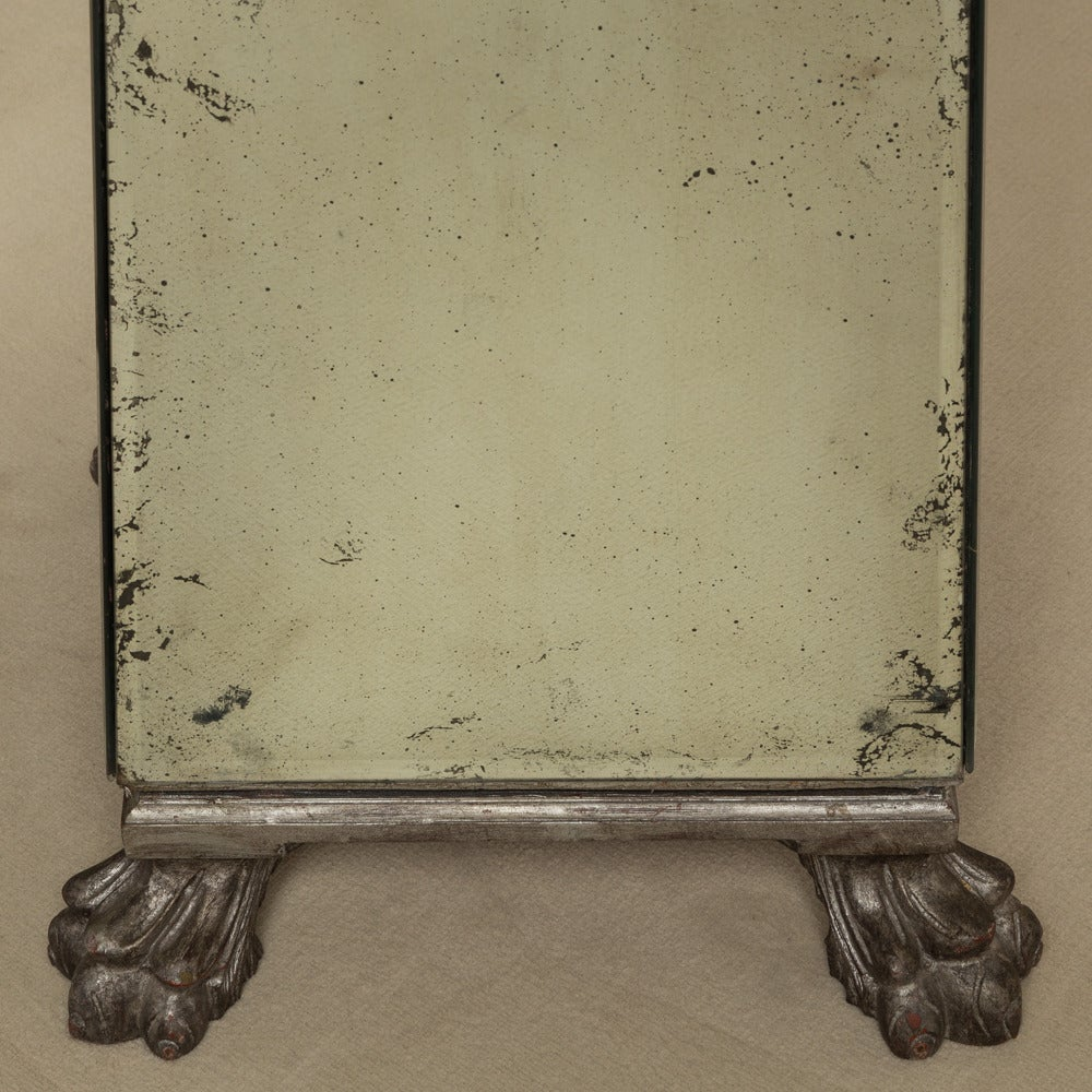 Pair of antique mirror and silvergilt floor standing for Antique standing mirror