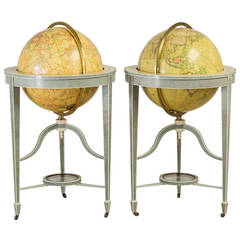 Exceptional Contemporary Pair of Bespoke Shagreen Globes