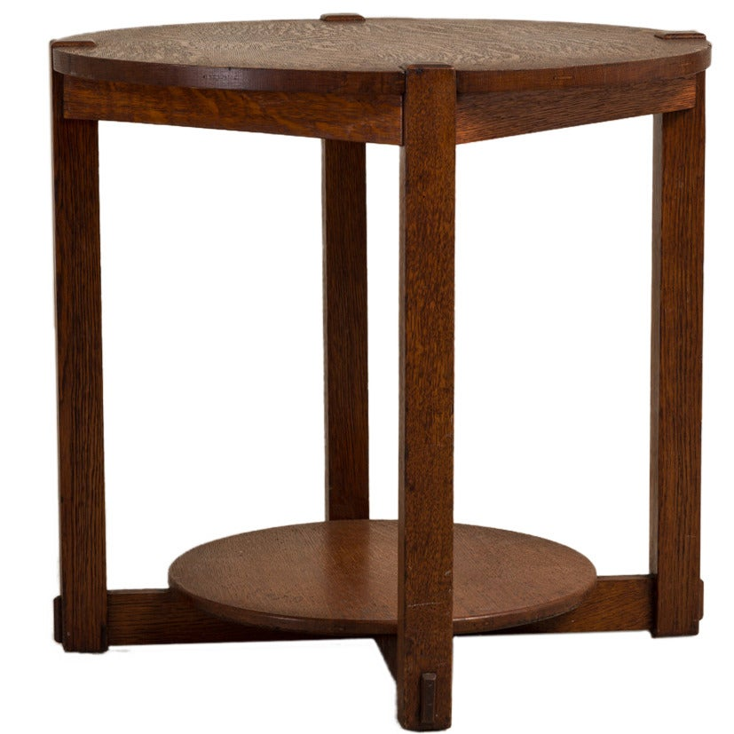 English oak arts and crafts side table at 1stdibs for Arts and crafts side table