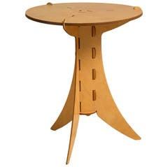 David Kawecki Designed Puzzle Plywood Side Table, 1990s