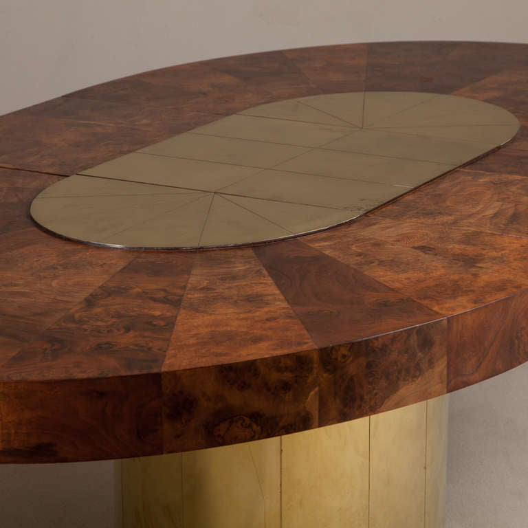 Large Paul Evans Cityscape Extendable Dining Table, circa 1970 4