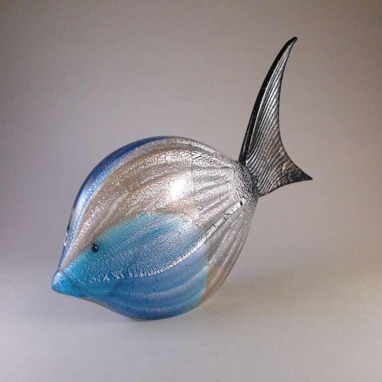 Rare Murano Glass Fish Sculpture In Excellent Condition For Sale In London, GB