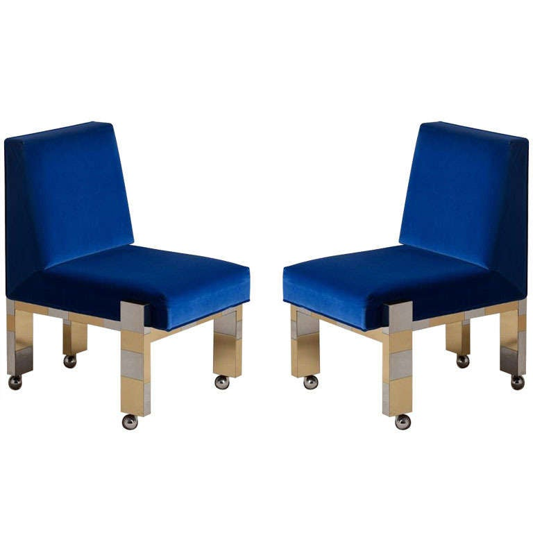 A Pair Of Paul Evans Dining Chairs Model Pe 243 1975 At
