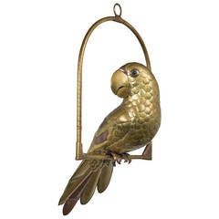 Small Parrot on an Arch Stand by Sergio Bustamante, 1960s-1970s