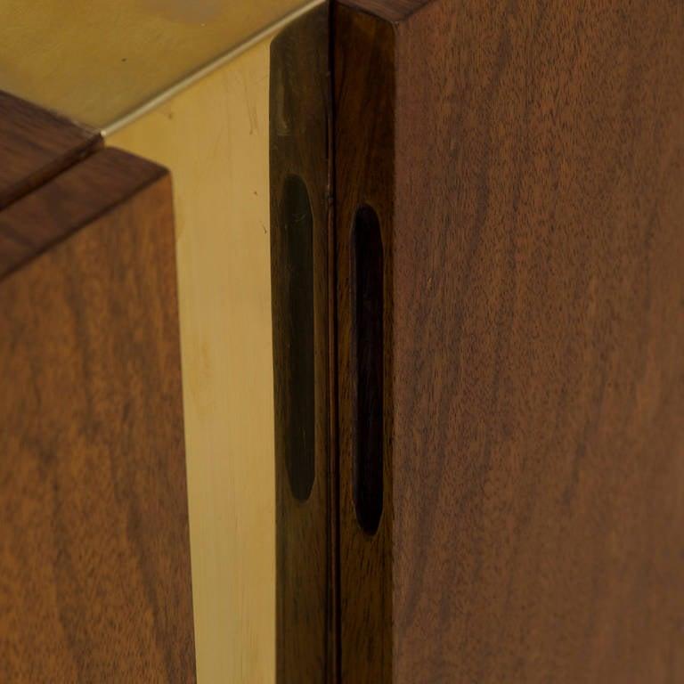 Milo Baughman Designed Zebra Wood And Metal Cabinet 1970s At 1stdibs