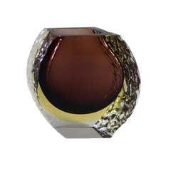 Mandruzzato Murano Sommerso Glass Vase