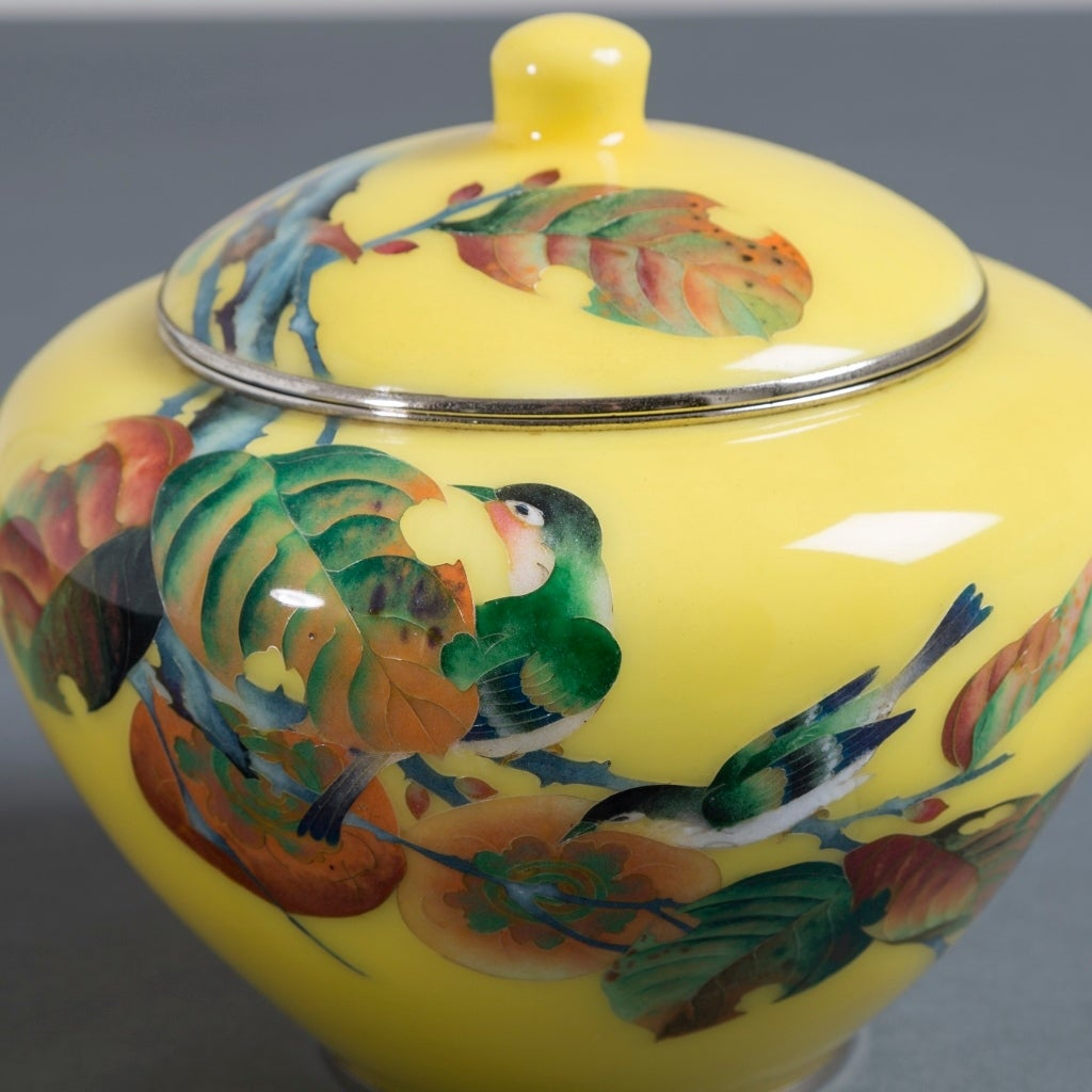 Japanese Cloisonné Enamel Vase Attributed to Shobido In Excellent Condition For Sale In London, GB