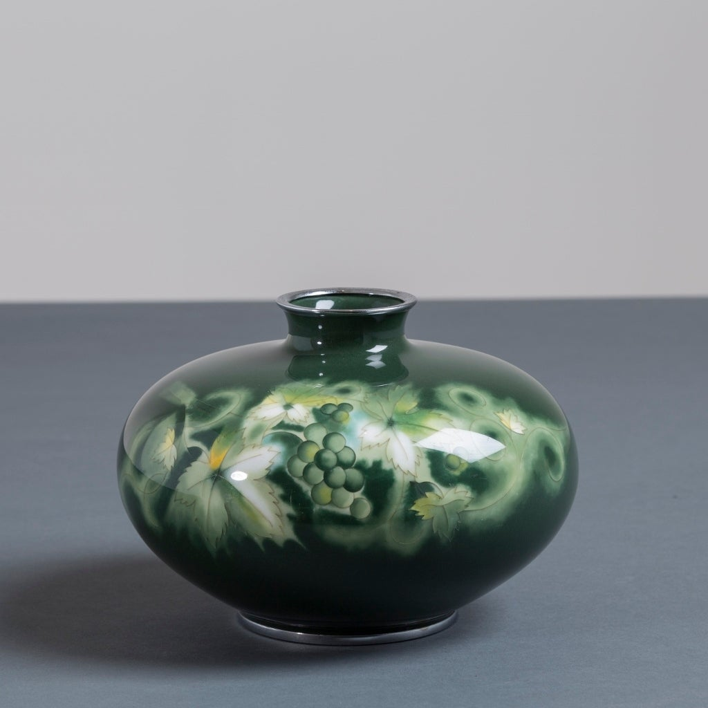 Japanese Cloisonn 233 Enamel Vase By Ando Circa 1950 For Sale At 1stdibs