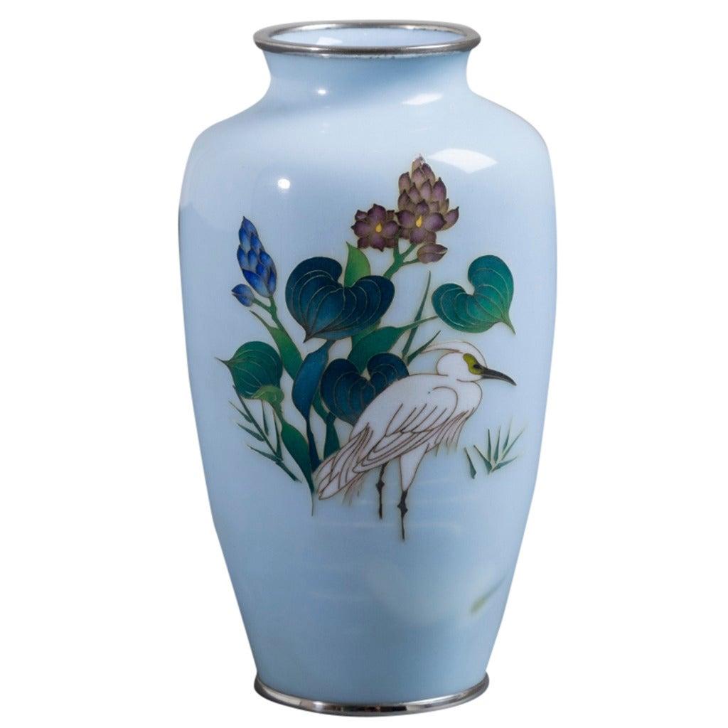 Japanese Cloisonné Enamel Vase Late Showa Period