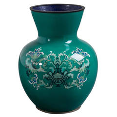 Japanese Cloisonné Enamel Vase by Ando from the Showa Period