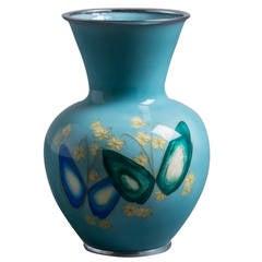 Japanese Cloisonné Enamel Vase, circa 1950
