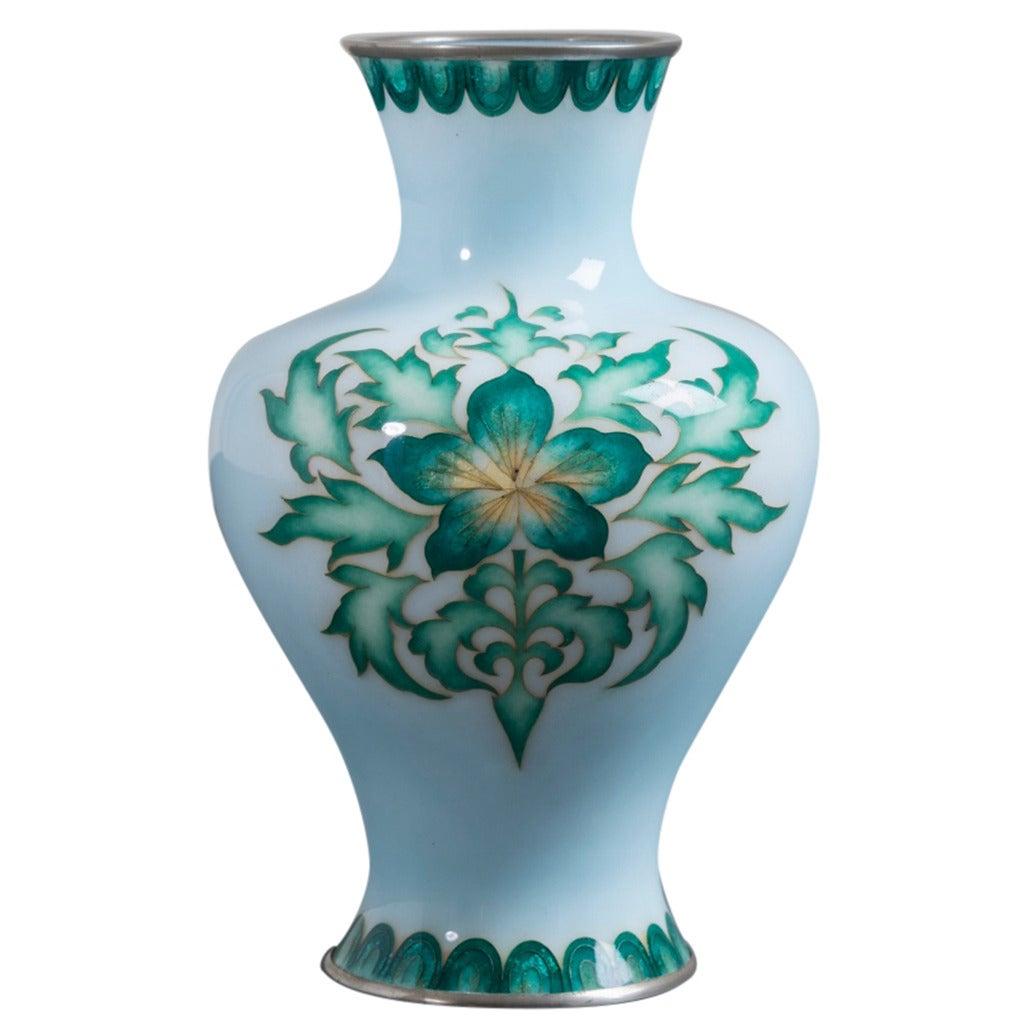 Japanese Cloisonné Enamel Vase by Tamura, circa 1920