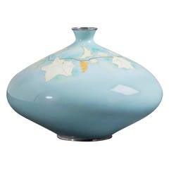 Japanese Cloisonné Enamel Vase by Tamura, circa 1950