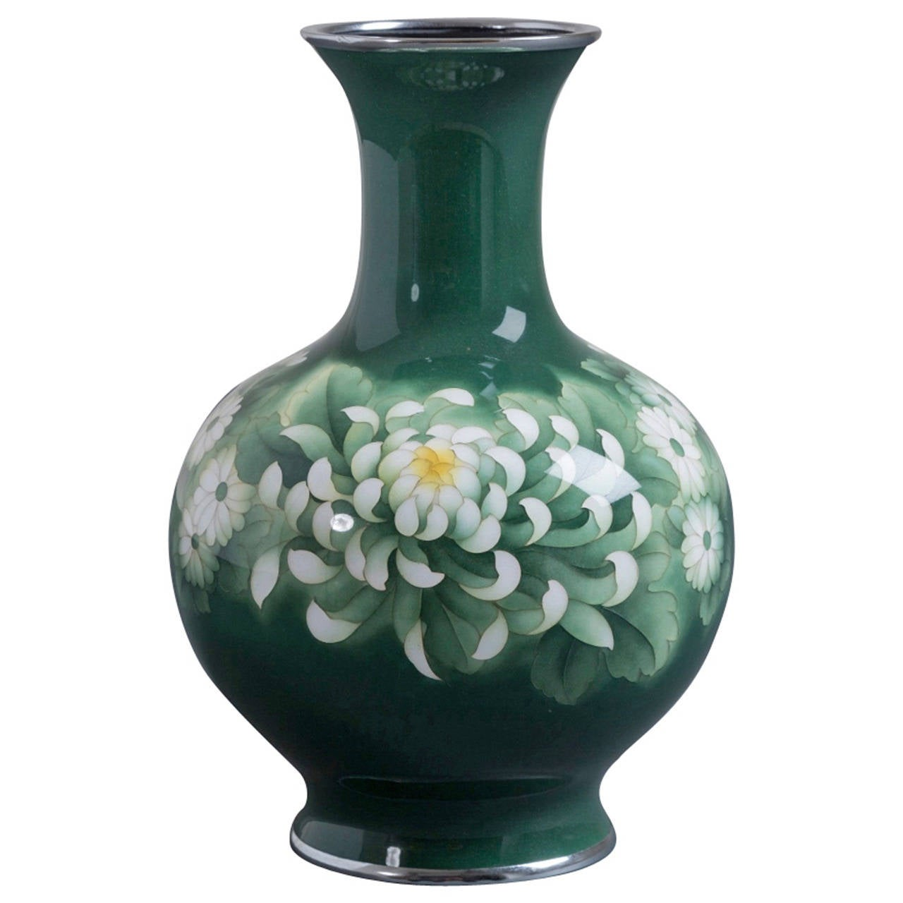 Japanese Cloisonné Enamel Vase Attributed to Inarba For Sale