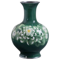 Japanese Cloisonné Enamel Vase Attributed to Inarba