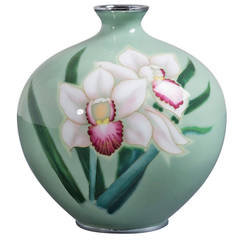 Japanese Cloisonné Enamel Vase Attributed to Ando, circa 1950
