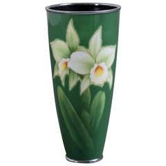 Japanese Cloisonné Enamel Vase by Ando, circa 1960