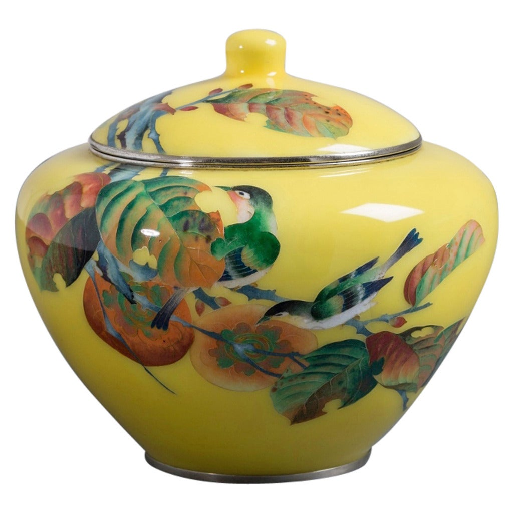Japanese Cloisonné Enamel Vase Attributed to Shobido For Sale