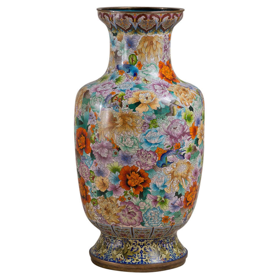 Large early 20th century chinese cloisonn vase circa 1900 1920 large early 20th century chinese cloisonn vase circa 1900 1920 for sale reviewsmspy