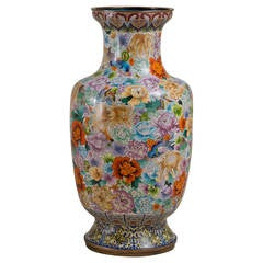 Large Early 20th Century Chinese Cloisonné Vase, circa 1900-1920
