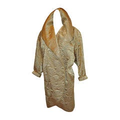 Joan Raines for Bergdorf Goodman Gold with Metallic Gold Cocoon Jacket