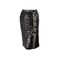 Yves Saint Laurent Sequin Skirt