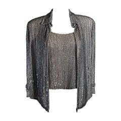 Oscar De La Renta Evening Blouse and Camisole Size 8