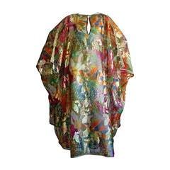 Wonderful Vintage Jay Morley for Fern Violette Metallic Caftan Dress