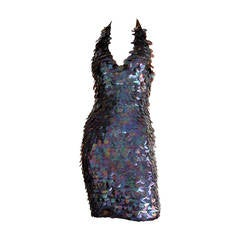 Fabulous Vintage C.D. Greene Purple Paillettes Sequin New Years Dress