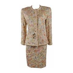 Oscar De La Renta 4 Piece Baroque Skirt Suit