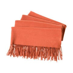 Hermes Rust Cashmere/Wool Plaid