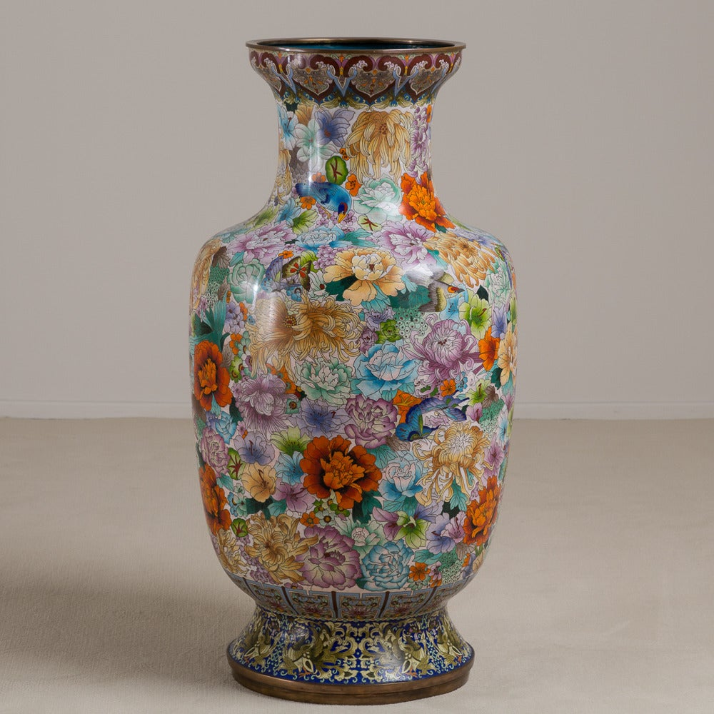 Large early 20th century chinese cloisonn vase circa 1900 1920 a large early 20th century chinese cloisonn vase with millefleur decoration circa 1900 1920 reviewsmspy