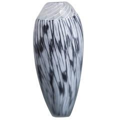 Unique Mattia Toso Designed for Schiavon Glass Vase Signed