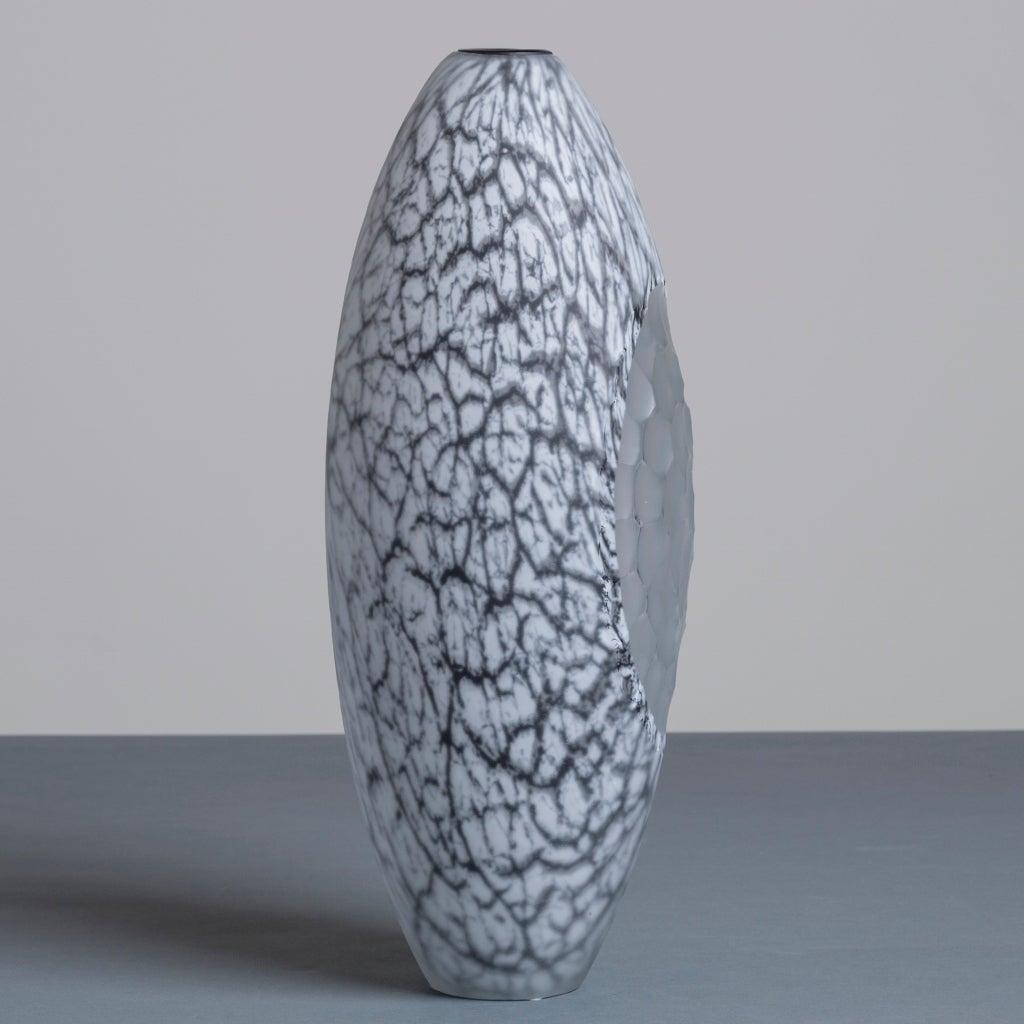 A Unique Mattia Toso Designed For Schiavon Glass Vase