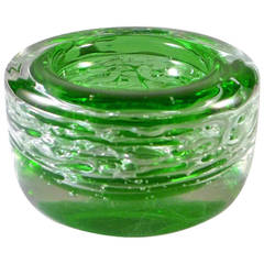Chunky Round Sommerso Glass Bowl