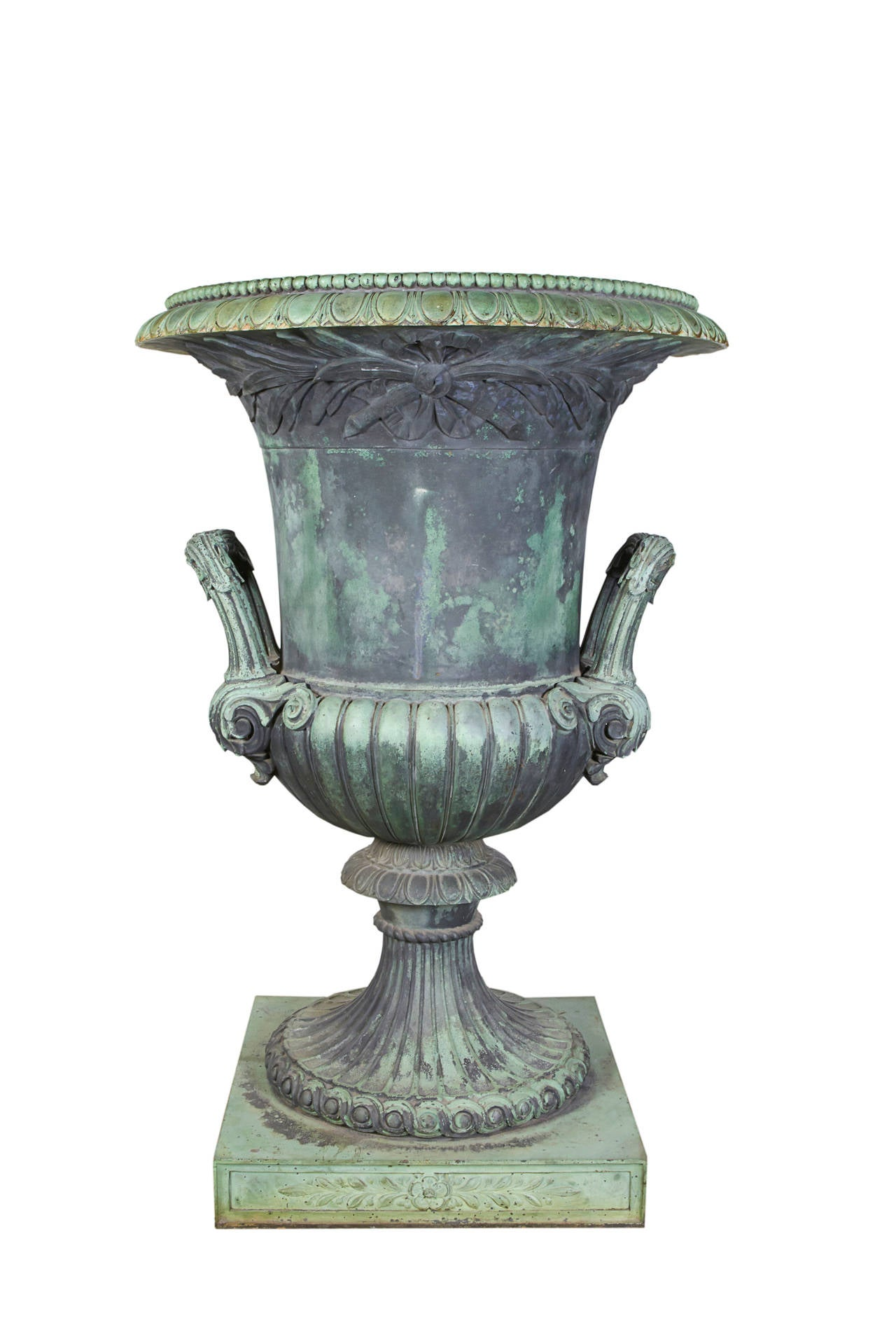 20th Century Cast Bronze Urn For Sale