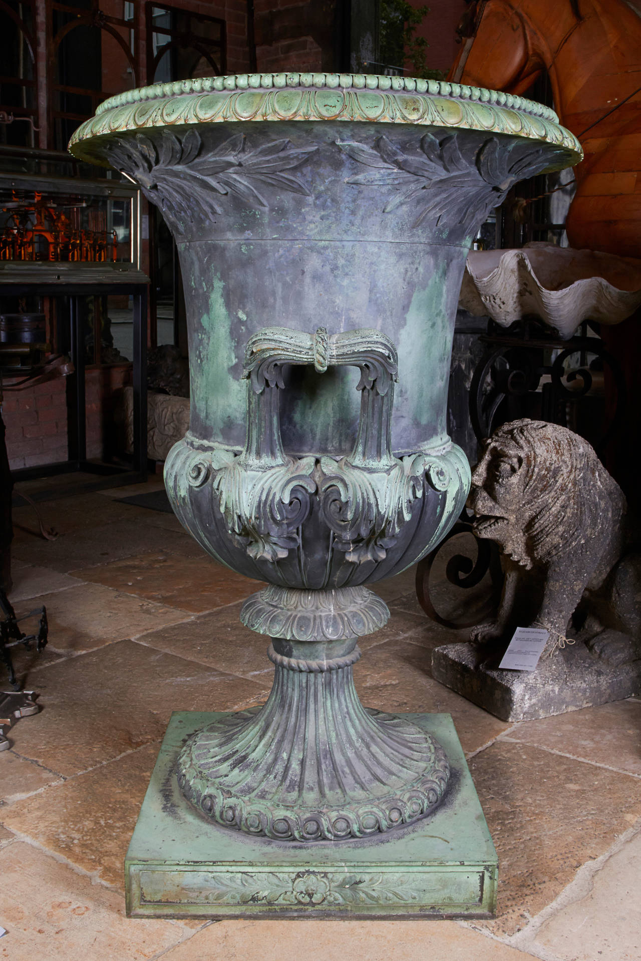 American Cast Bronze Urn For Sale