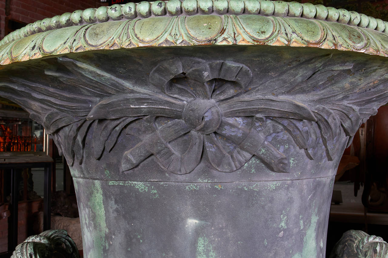 Cast Bronze Urn For Sale 5