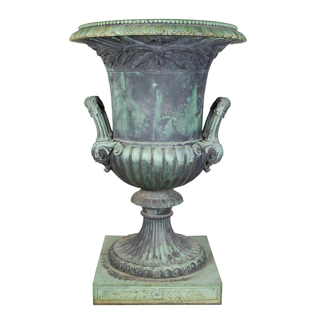Cast Bronze Urn For Sale