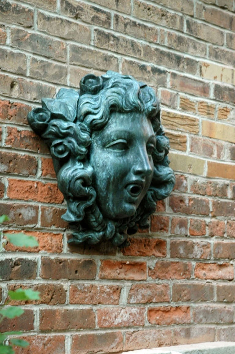 Cast Bronze Fountain Mask For Sale At 1stdibs