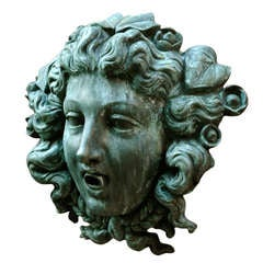 Cast Bronze Fountain Mask