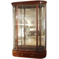 Mahogany and Glass Display Case
